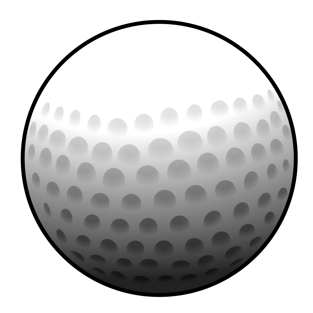 Black and white golf ball png. File svg wikimedia commons