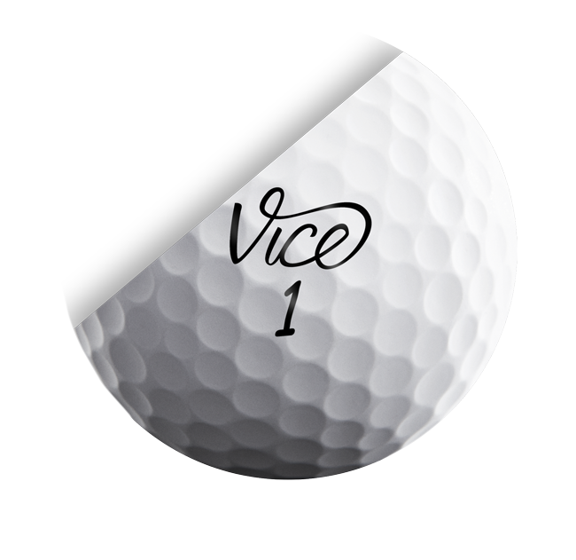 Black and white golf ball png. Vice pro soft extremely