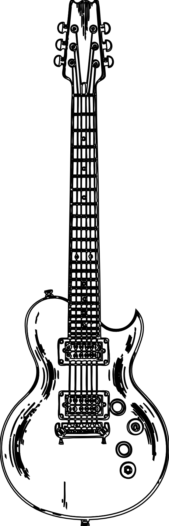 Guitar black and white png. Free pictures of guitars