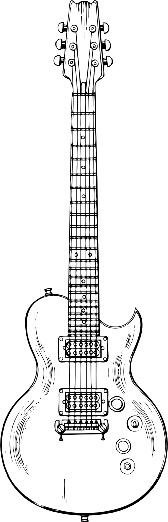 Guitar black and white png. Clipartist net search results