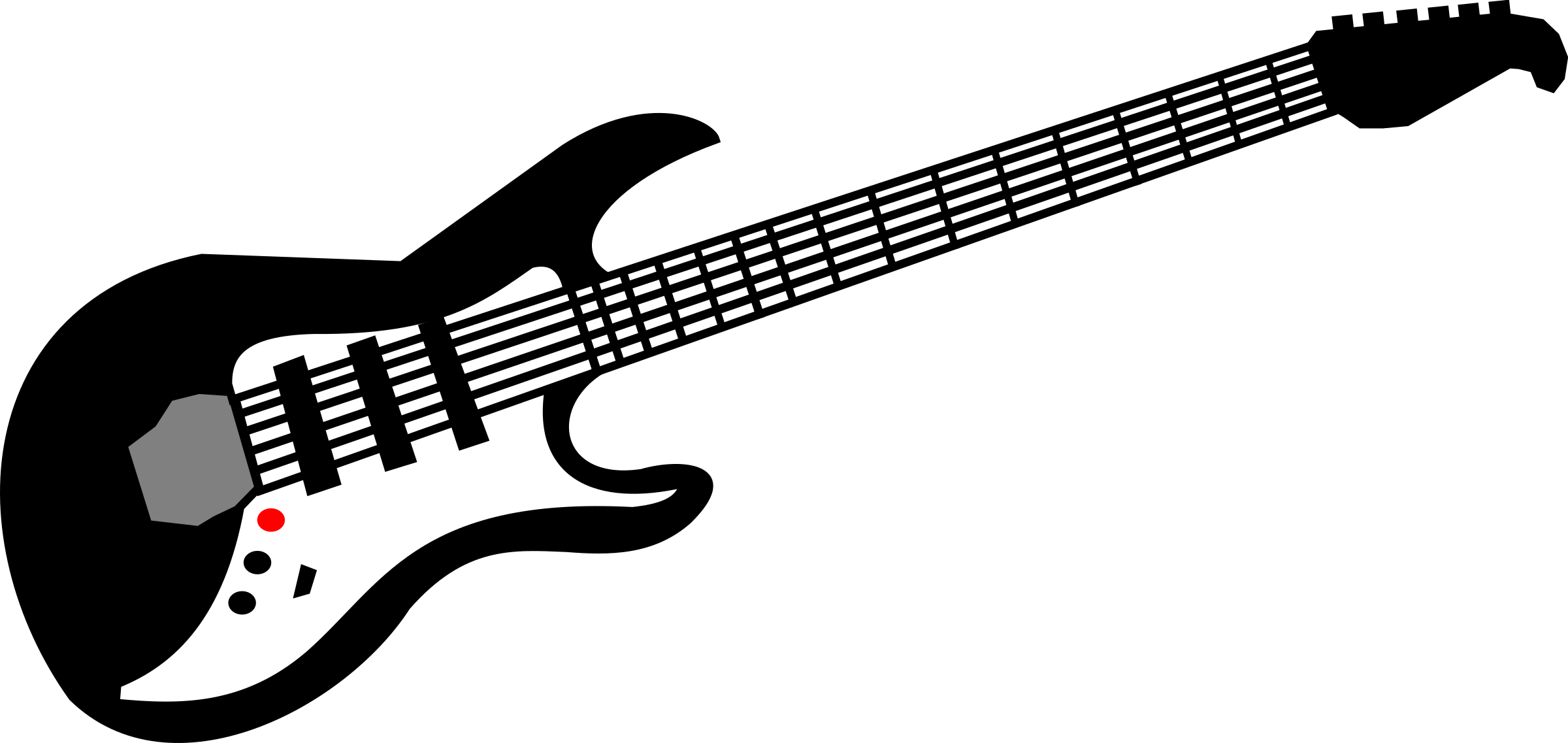 Black and white guitar png. Collection of clipart