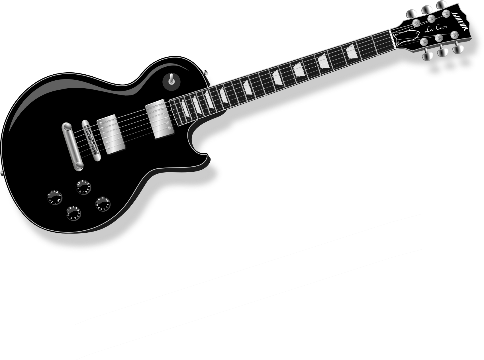 Black and white guitar png. Electric icons free downloads