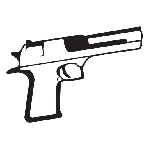 Vector ak47 black and white. Pistol icon transparent png
