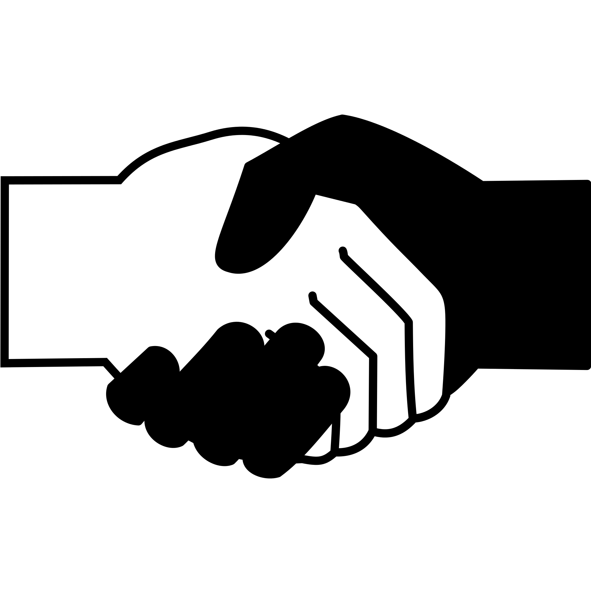 Black and white hands png. File handshake icon svg