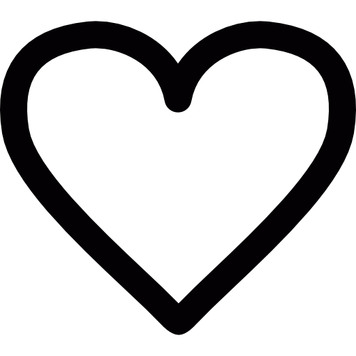 Black and white heart png. Free icons icon