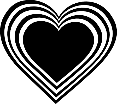 Hearts clip art black. Envelope clipart heart seal clipart black and white download