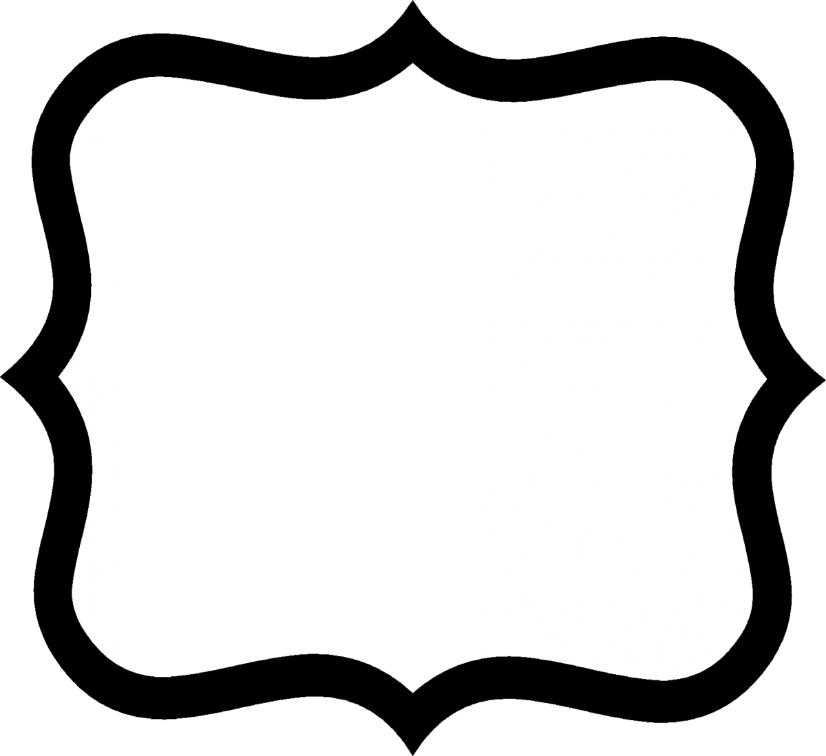 Black and white label png. Fancy shape clip art