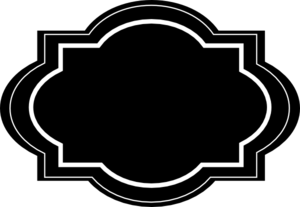 Black and white labels png. Decorative clip art at