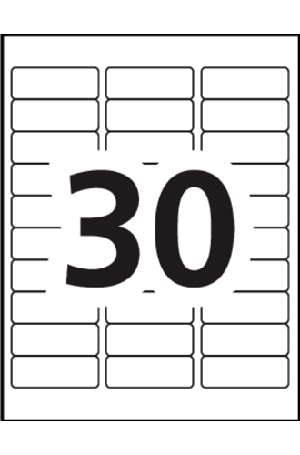 Black and white labels png. Avery address blank per