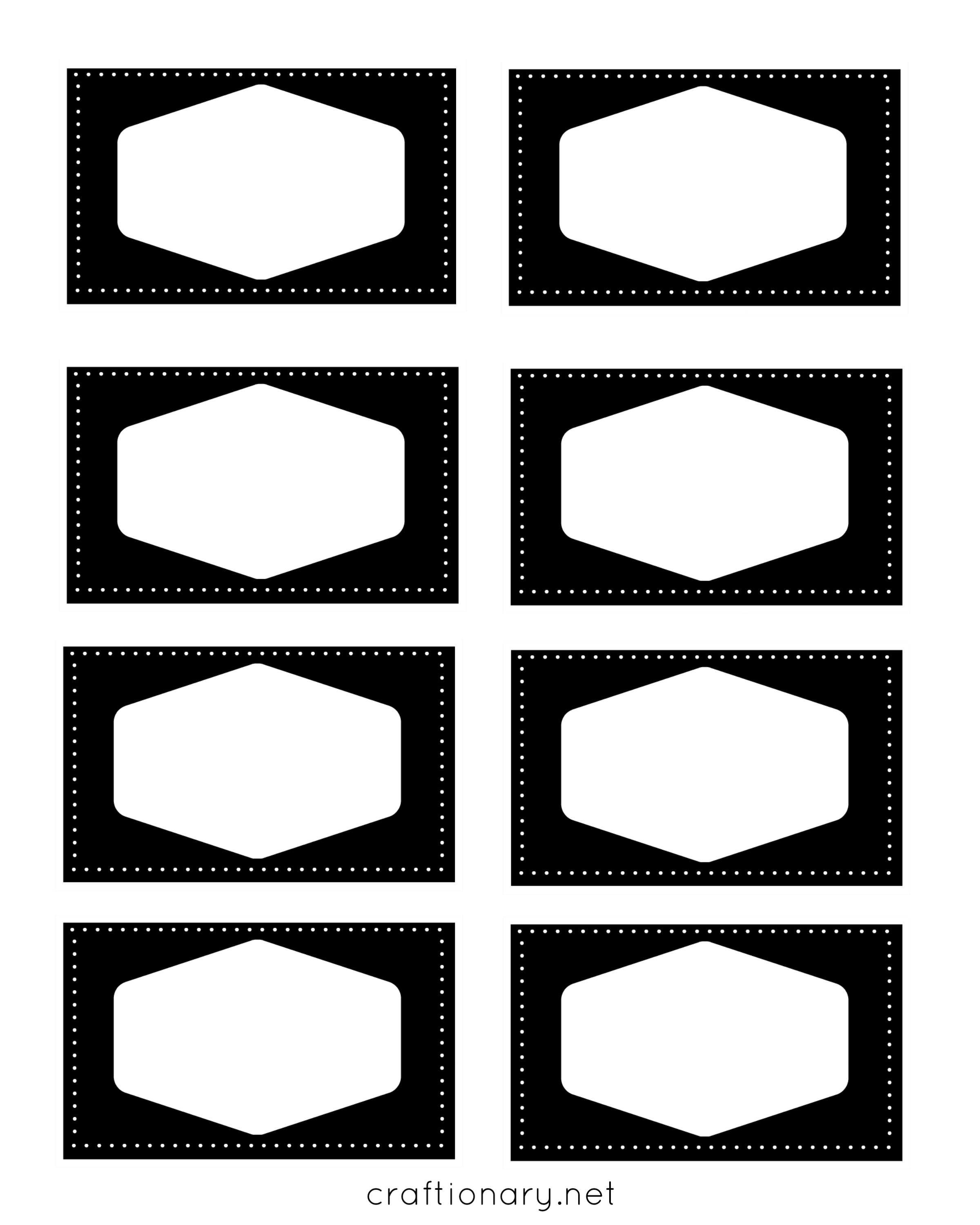 Black and white labels png. Craftionary book label frames