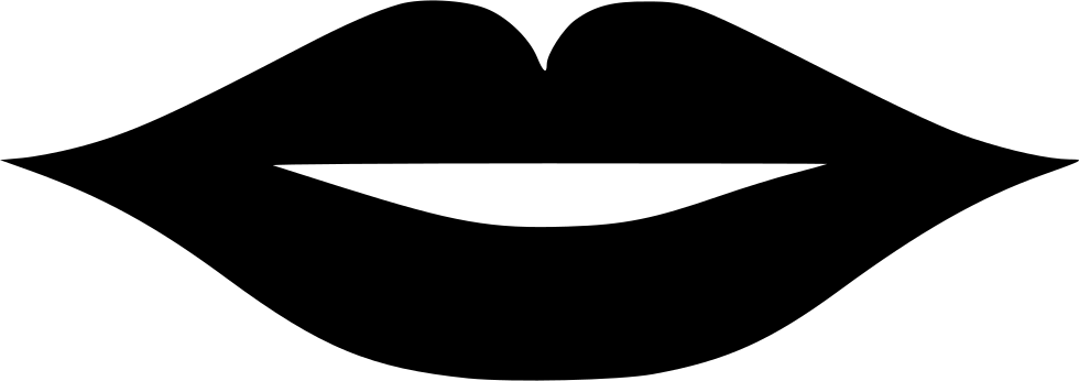 Black and white lips png. Svg icon free download