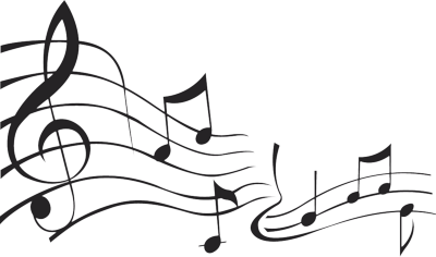 Music note design png. Singing notes clipart free