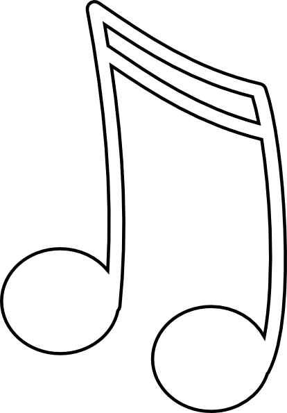 Clip art at clker. White music note png picture transparent download
