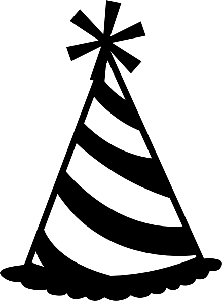 Black and white party horn drawing png. Collection of hat