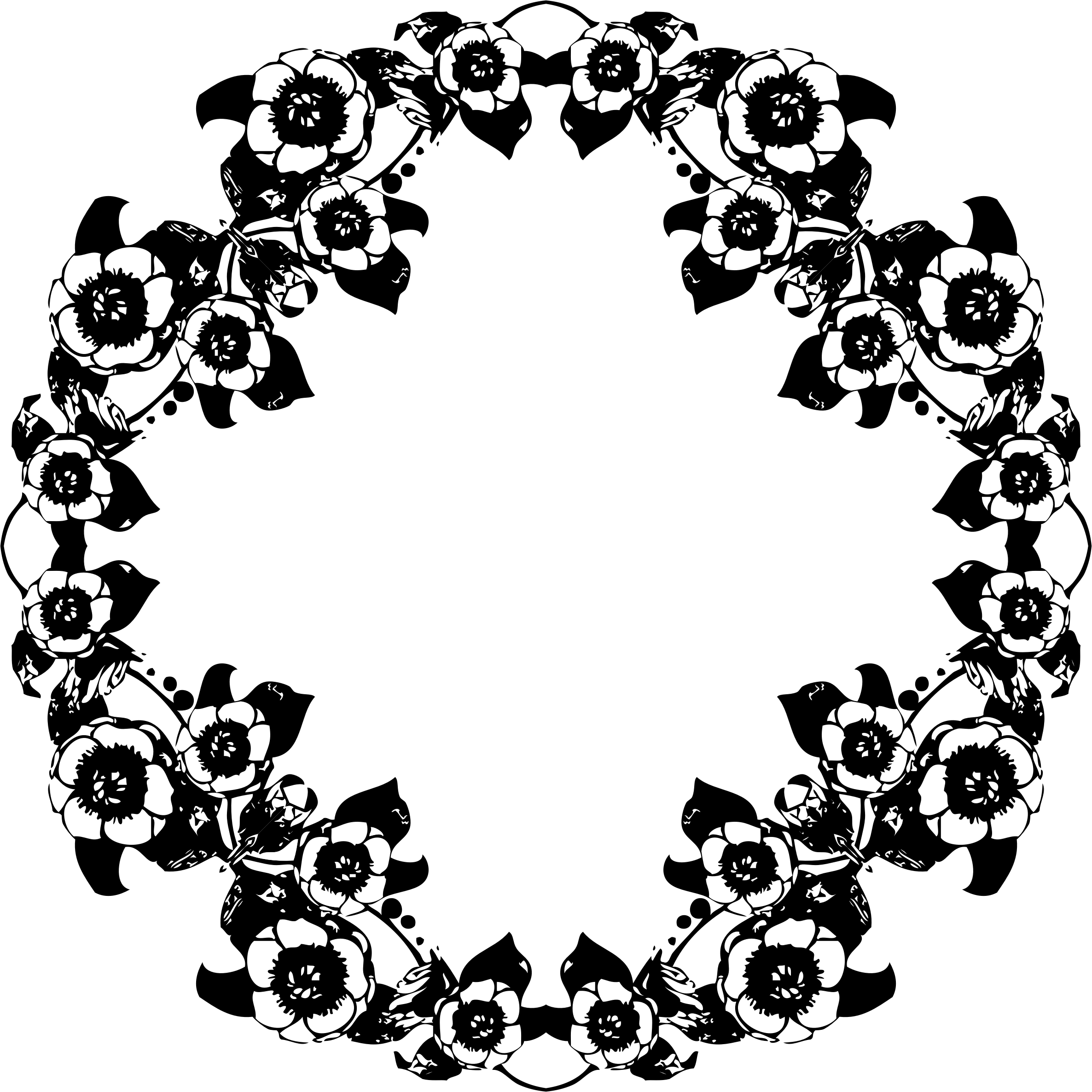 Black and white design png