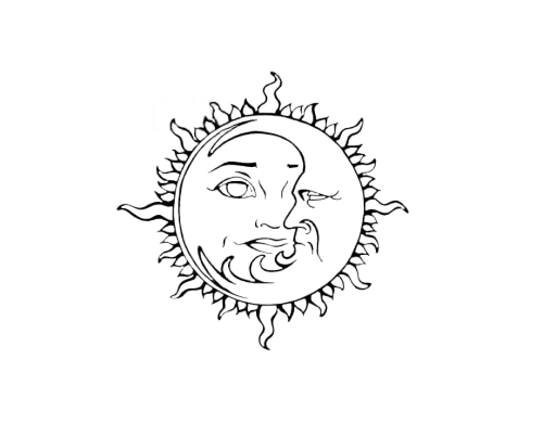 Celestial drawing henna. Tumblr png black and