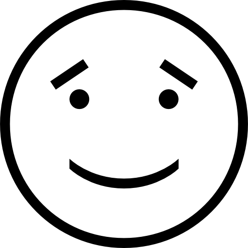 Black and white smiley face png. Smiling emoticon outline free