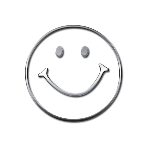 Black and white smiley face png. Transparent background clipart panda