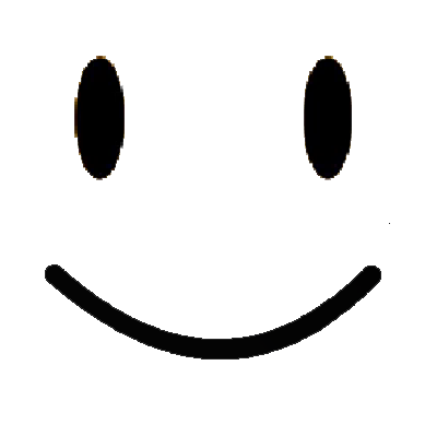 Black and white smiley face png. Image normal happy battle