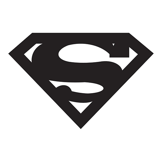 Black and white superman logo png. Modern pic arts