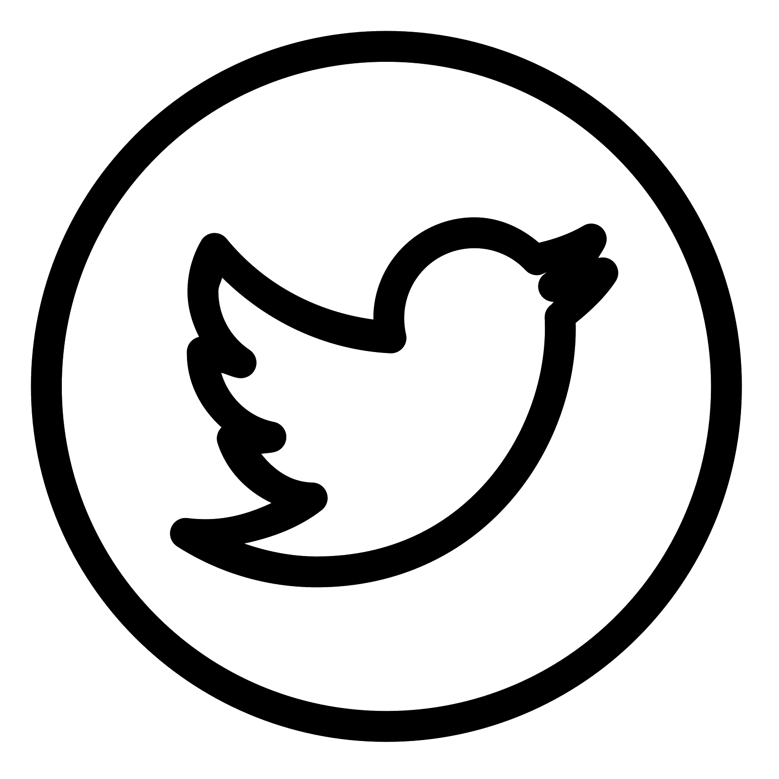 Black And White Twitter Logo Png Picture 439519 Black And White