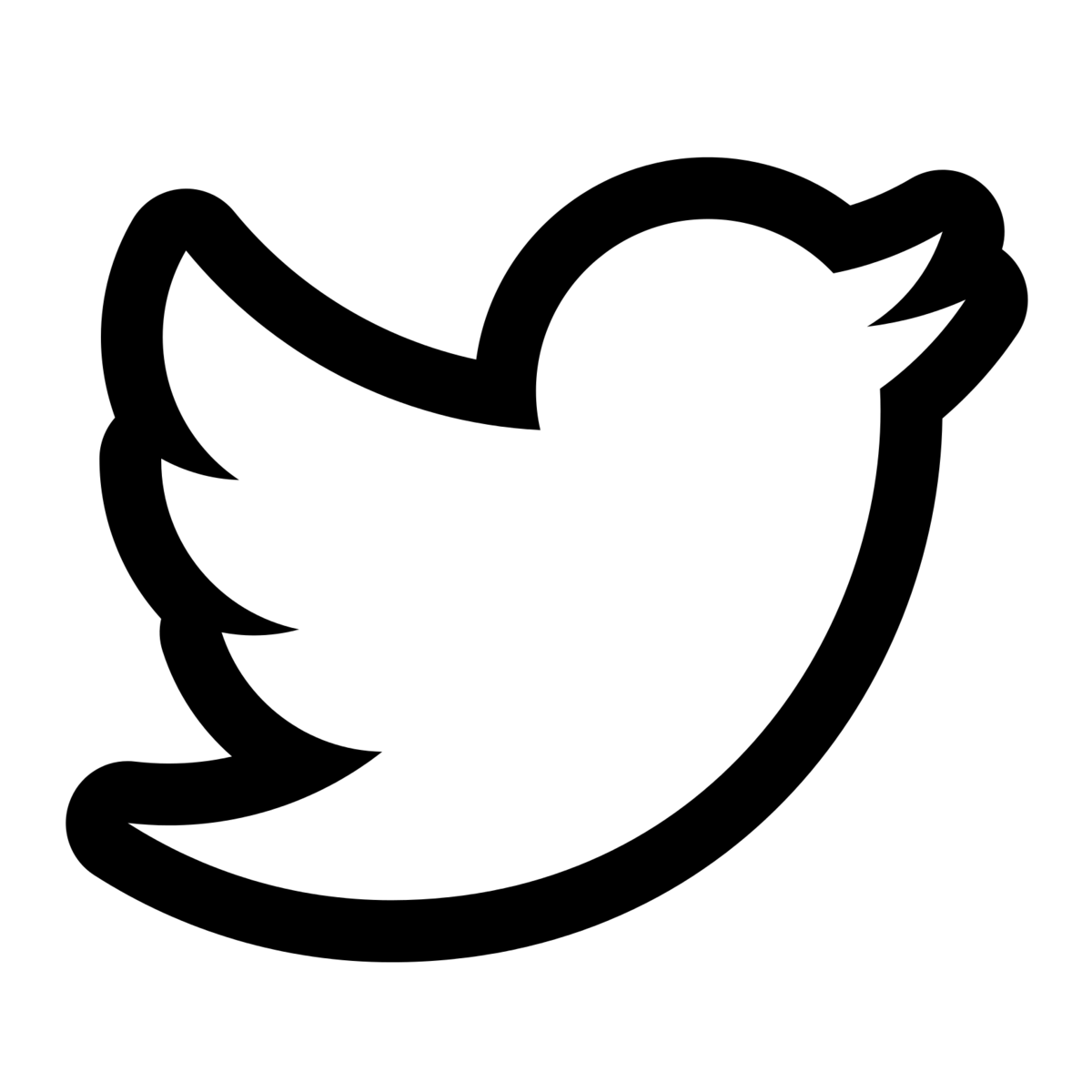 Black and white twitter logo png. Transparent st anthony s