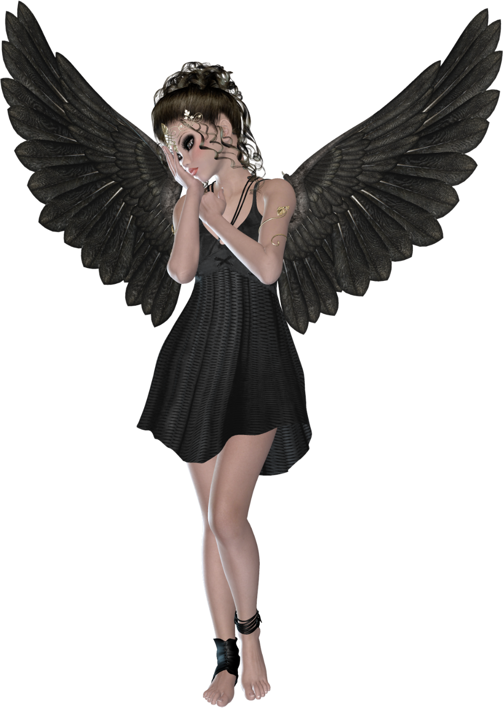 Beautiful d gallery yopriceville. Black angel png clip free stock