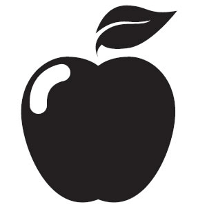 Black apple. And white clipart gclipart