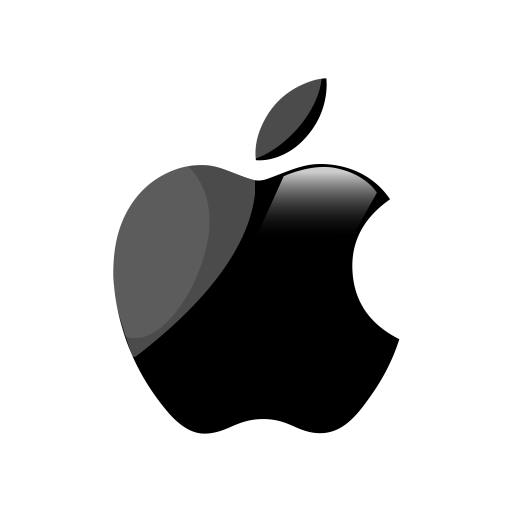 White apple logo png. Tv by mp design