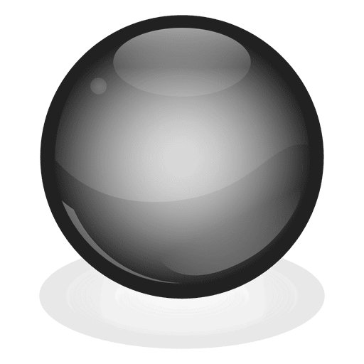 Black ball png. Marble transparent svg vector