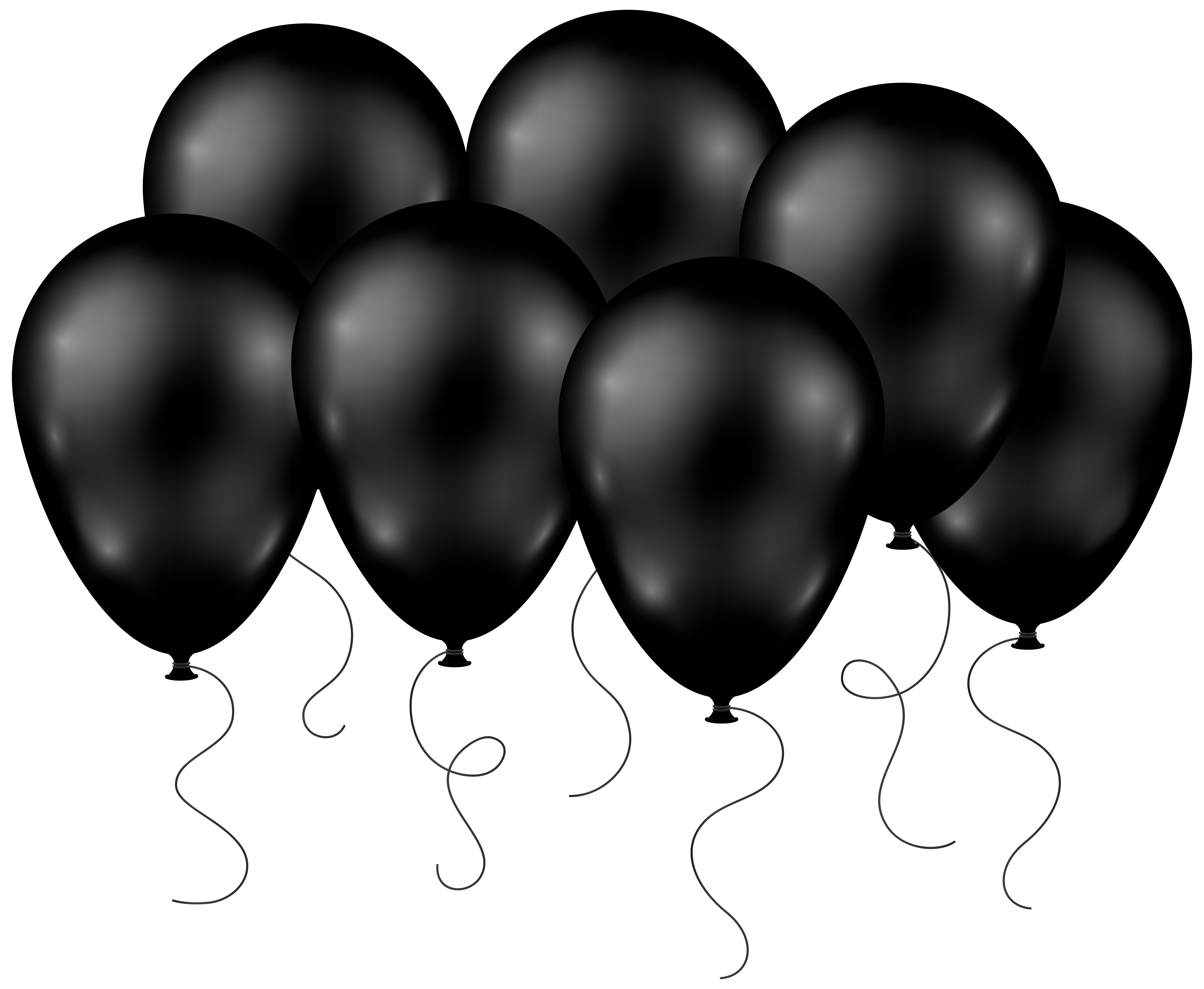 Black balloon png. Balloons transparent clip art