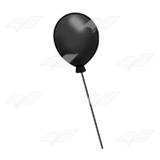Black balloon png. Abeka clip art one