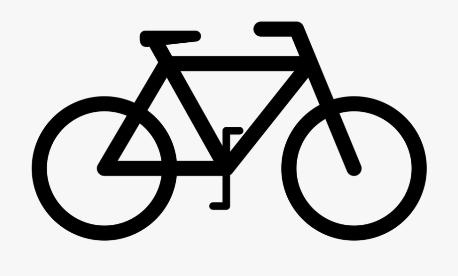 Black bicycle. Cycling clipart bike sign