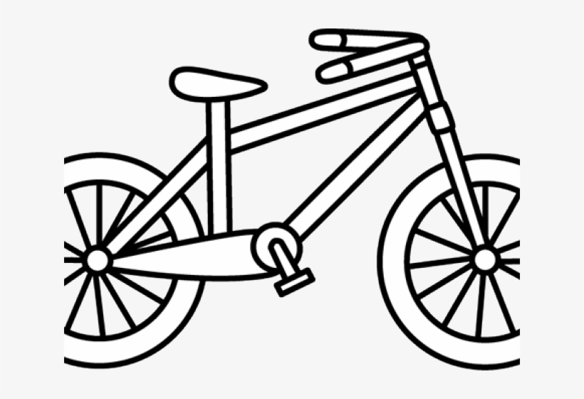 Black bicycle. Cycling clipart and white