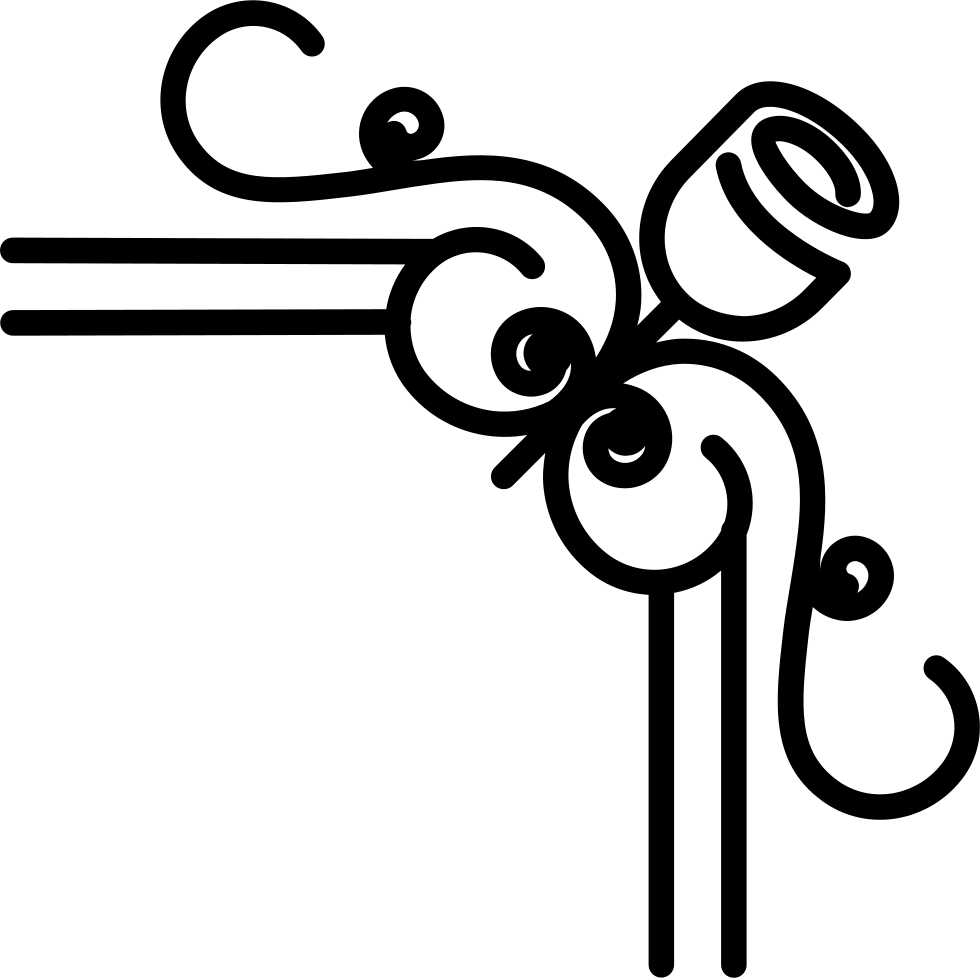 Black border design png. Floral on the right