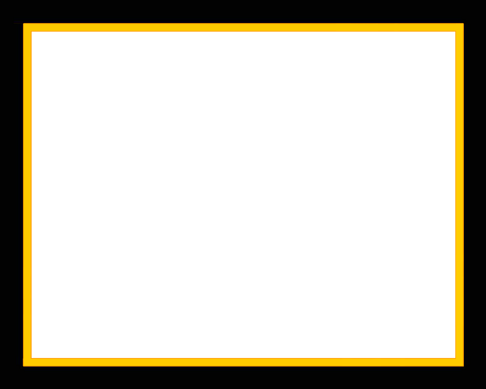 Black border png. Frame with darker yellow