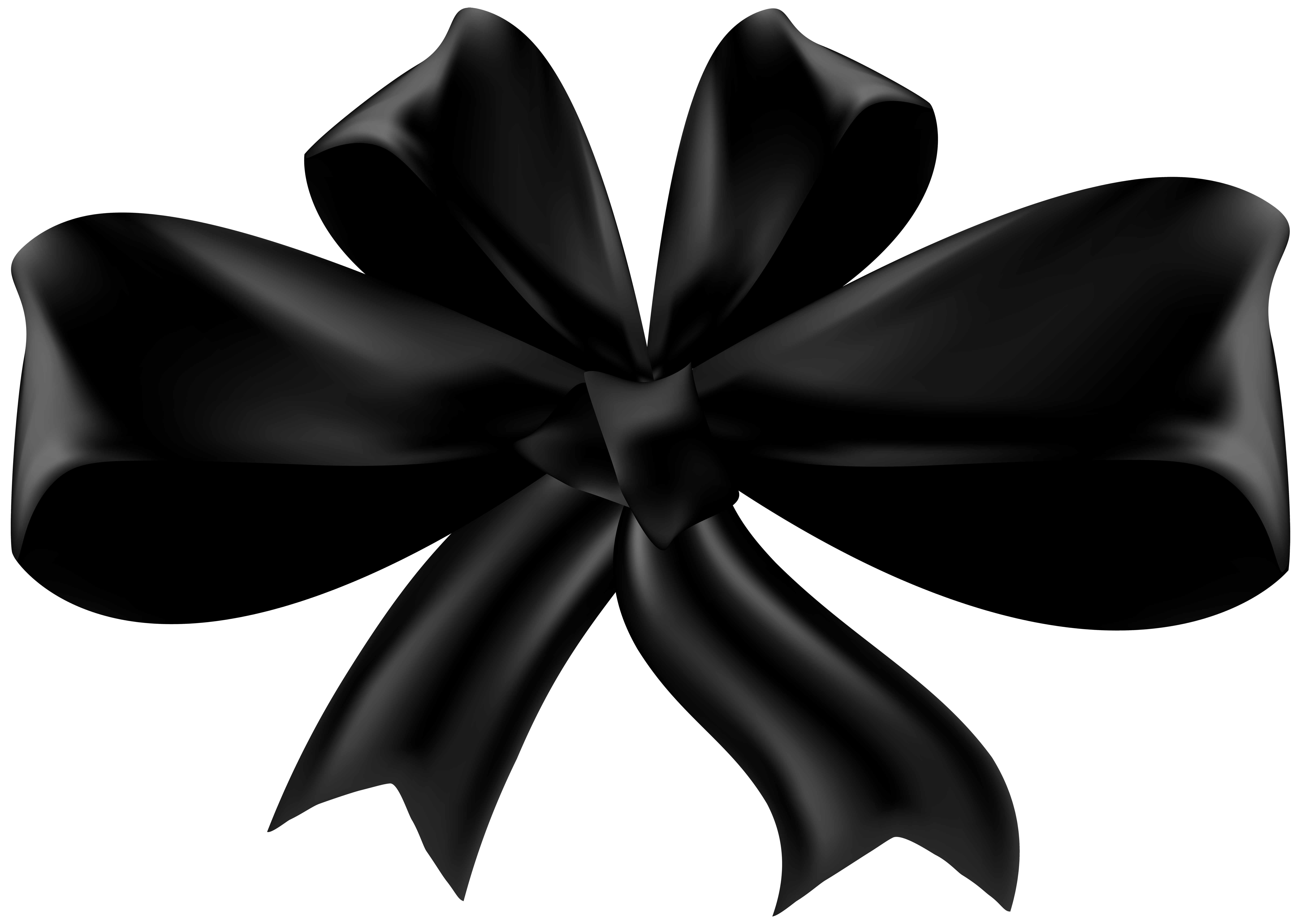 Black bow png