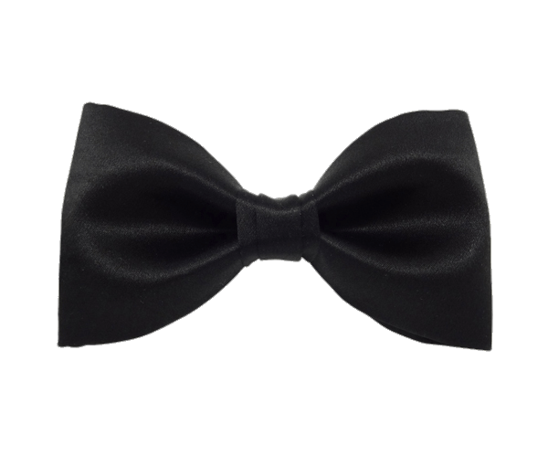 Bow tie png. Classic black transparent stickpng