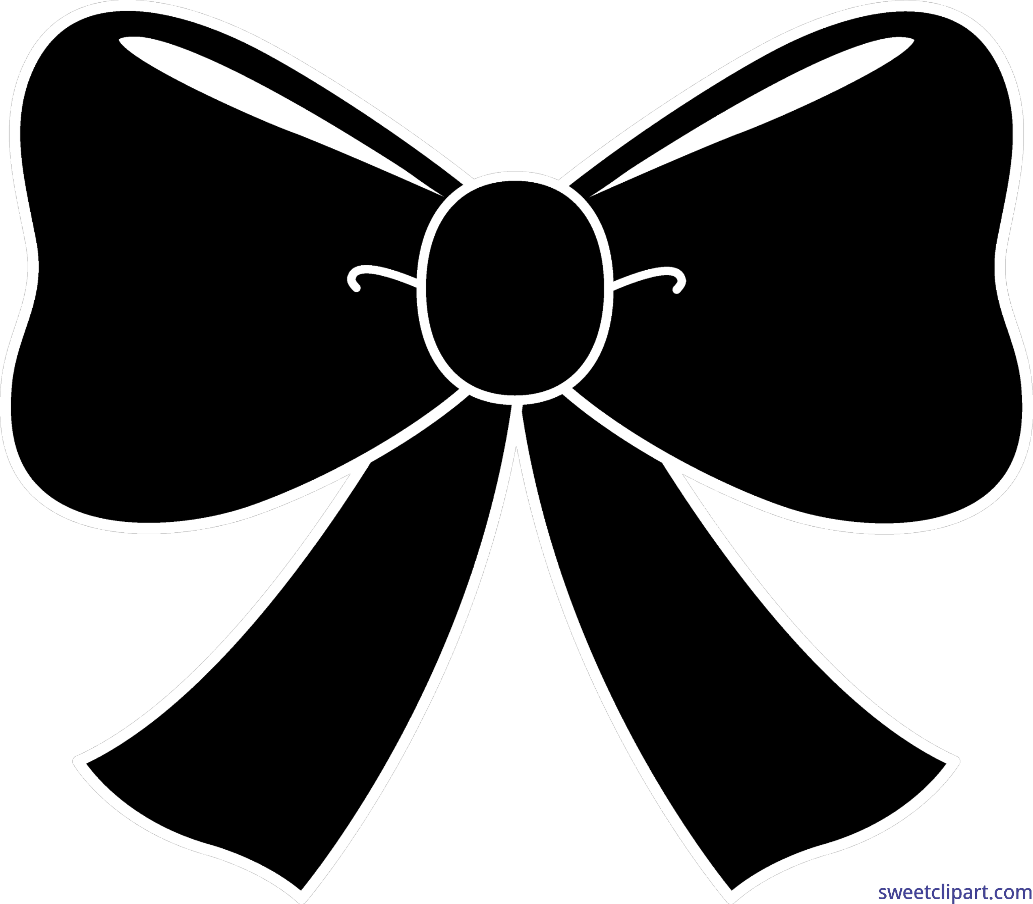 Black bow png. Silhouette clip art sweet