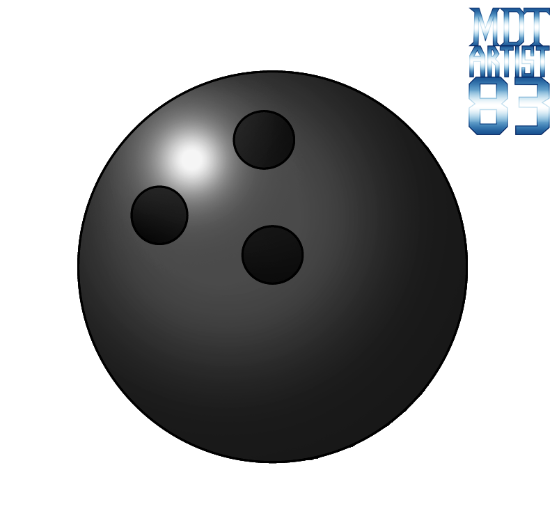 Black bowling ball png. By mdtartist on deviantart