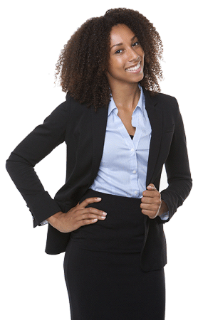 Black business woman png. Contact us