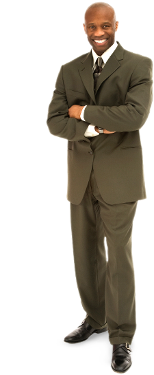 Black businessman png. Deluxe provent powered by