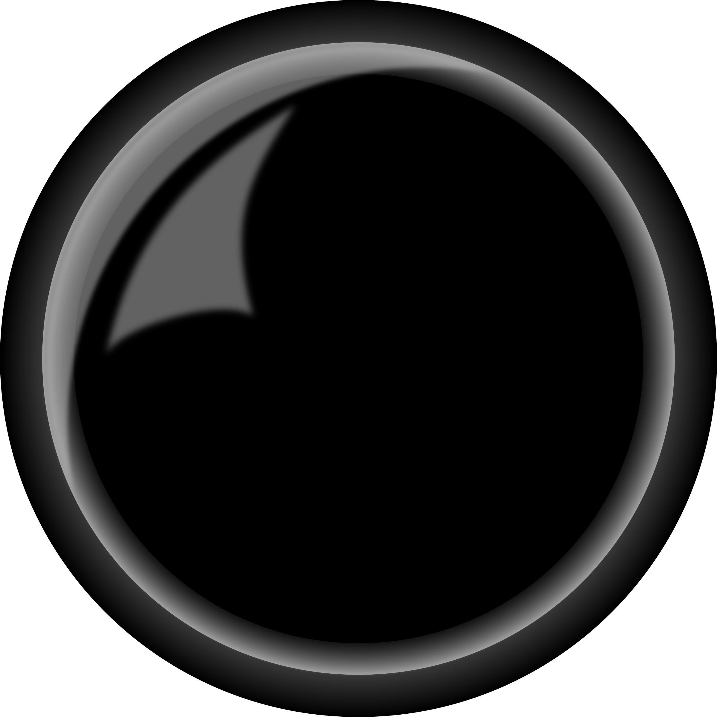 Black button png. Round shiny icons free