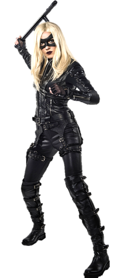 Ballbusting drawing black canary. Cw transparent by gasa