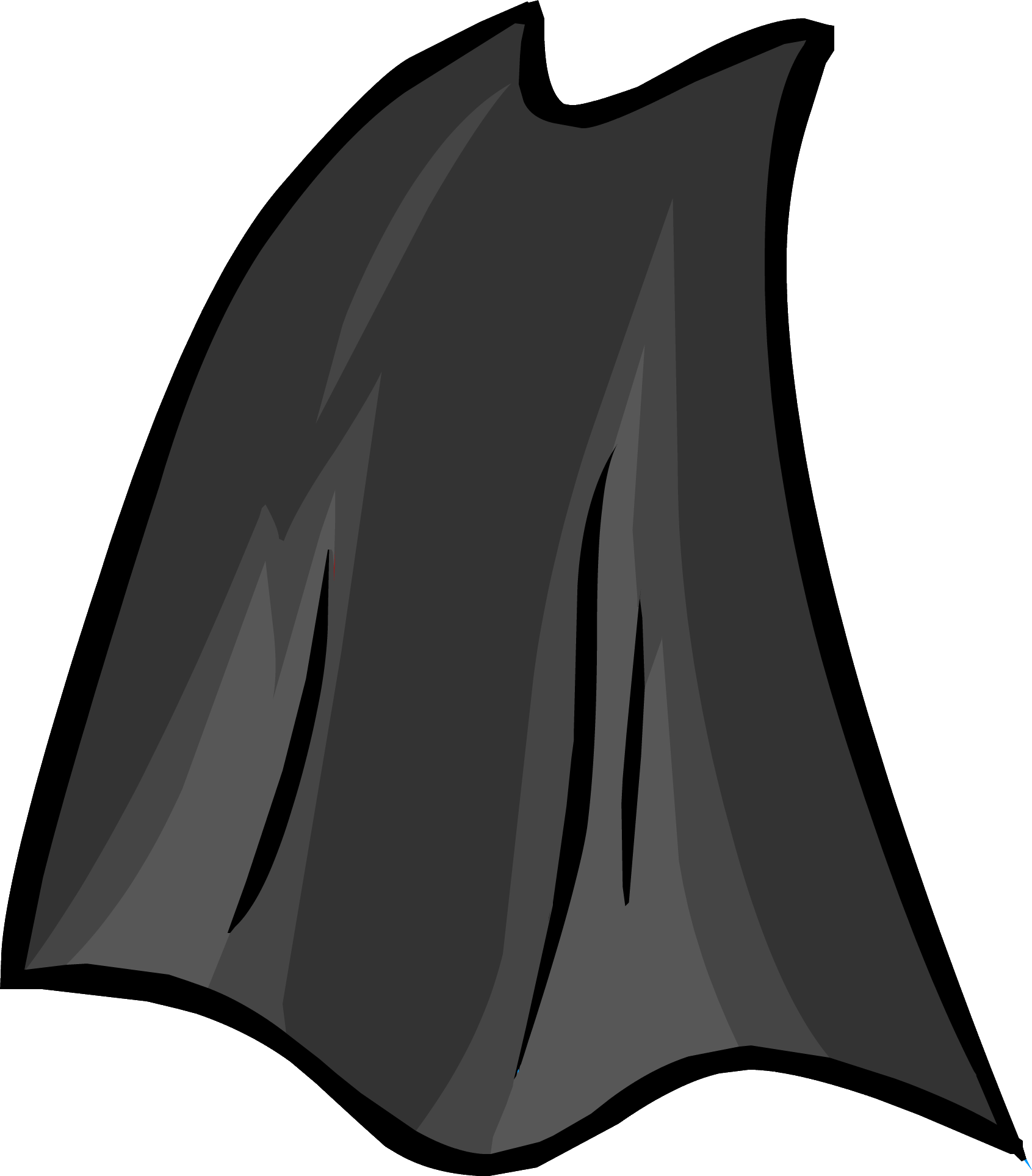 Drawing capes black cloak. Cape club penguin rewritten