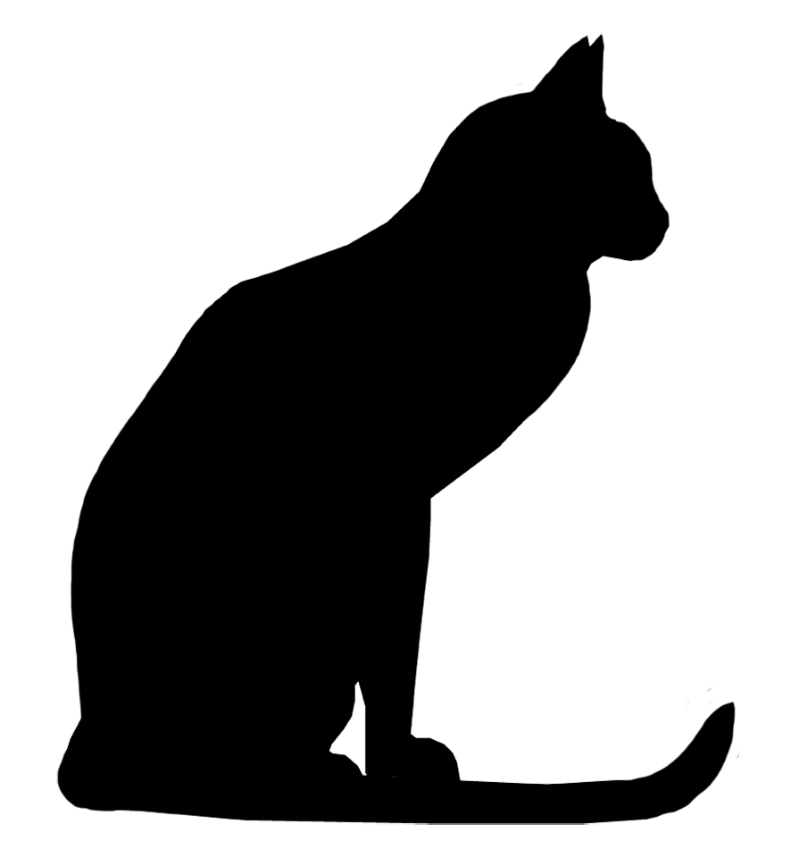 Dogs cats laying down clipart png. Cat silhouette images cliparts