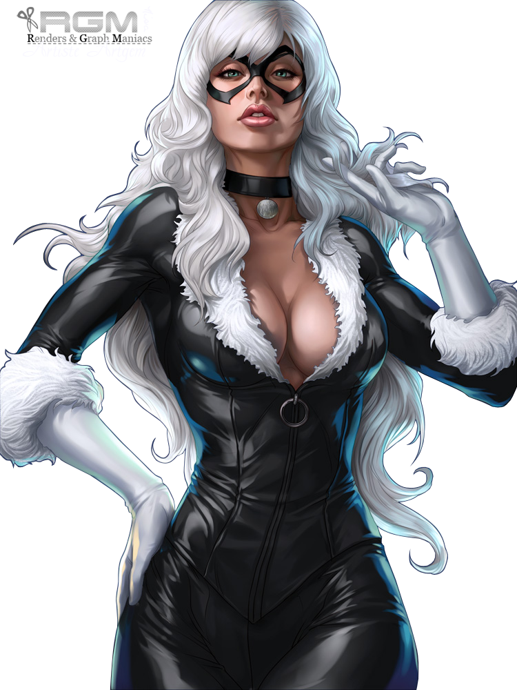 black cat marvel png