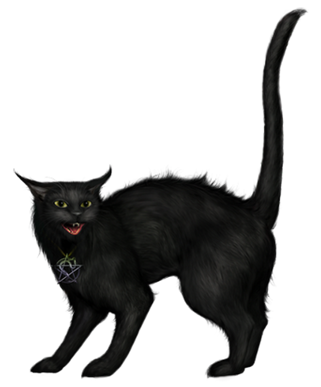 Black cat png. Creepy picture gallery yopriceville