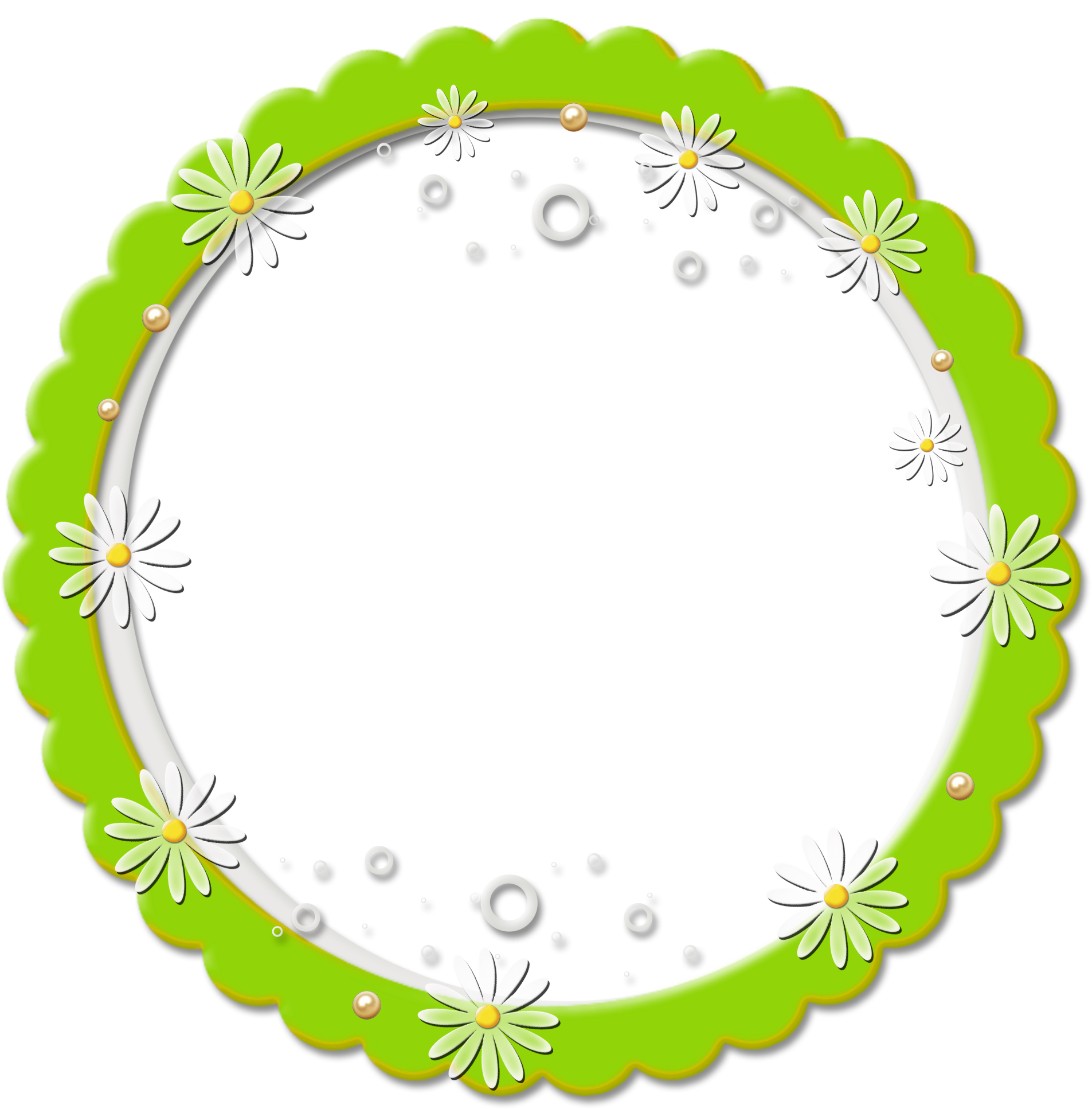 Black circle frame png. Cute round daisy gallery
