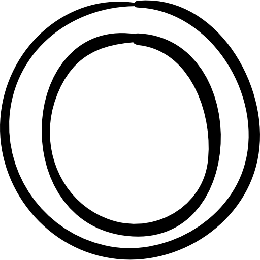 Circle doodle png. Outline shapes ring cycle
